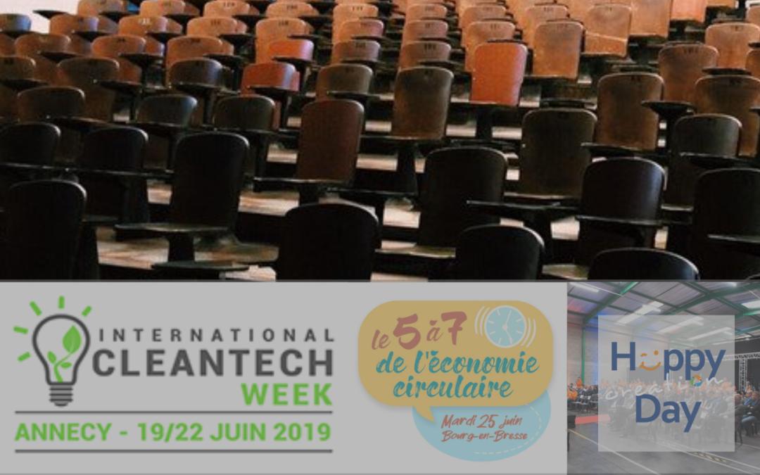 [Evènement] International Cleantech Week, 5 à 7 de l'économie circulaire et Happy Creation Day : Cycl-add participe !